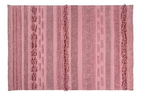 Lorena Canals Alfombra Lavable Air Canyon Rose Algodón Natural - Diferentes tonos de Rosa - 170x240...