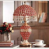 CTD Continental Nachttischlampe Schlafzimmer Wohnzimmer Lampe Silberglas Wohnideen,rot