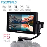 Feelworld F6 Plus 5.5 Pollici On Camera Field DSLR Monitor Touch Screen 3D Lut Small Full HD 1920x1080 IPS Video Peaking Focus Assist con 4K HDMI 8.4V DC Output Includono Tilt Arm