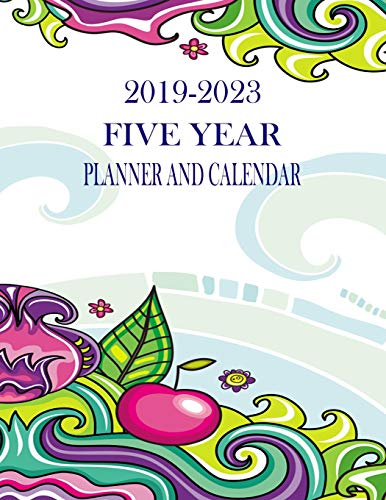 Planner And Calendar: Artsy Cherry 60-Month Planner - Monthly Agenda And Organizer ()
