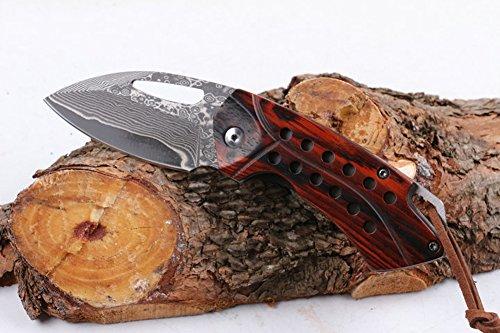 CHENPK04908 Palo rosa Cuchillo plegable hecho mano