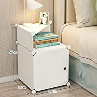 Portable DIY Cube Cabinet nightstand Bedroom Side Table
