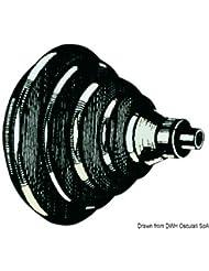 Bague passe-câbles en ABS noir avec soufflet