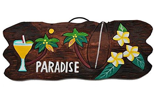 Cartel-de-madera-50-cm-Paradise-Tiki-Hawaii