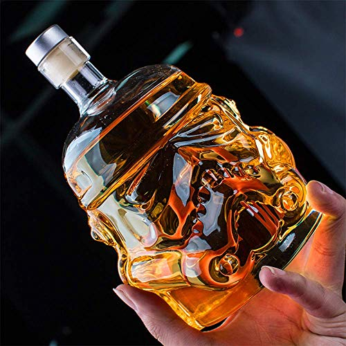Eulan Whiskey Decanter Glasses - Personalized Flask Carafe Decanter Transparent 100% Lead Free Crystal Clear for Brandy,Scotch,Bourbon,Vodka,Liquor - 750ml Clear Crystal Brandy
