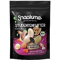 Luxus Bio Studentenfutter 1kg ohne Zucker mit hochwertigen Nüssen und Beeren, ohne billige Rosinen, ohne Erdnüsse und ohne Haselnüsse, naturbelassen