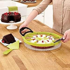 MOCHA créatif parfaite tranche pizzas gâteau de coupe trancheuse tarte diviseur dessert (couleur aléatoire) 30 * 30 * 1.5cm
