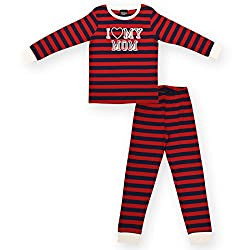 Ventra Boys Nightwear Set Mom (Red, 2-3 Years)