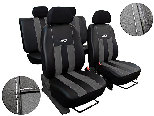 Autositzbezüge passend für AUDI A4 B5-B6. Sitzbezüge Set ECOLEDER mit ALCANTARA - DESIGN