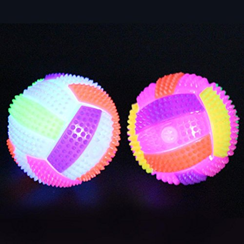 Il cambiamento di colore dei giocattoli dei bambini dei giocattoli di palla del riccio istantaneo di pallavolo del led pallavolo incandescente giocattoli educativi (come mostrato, 9.5*5.5*5.5cm)