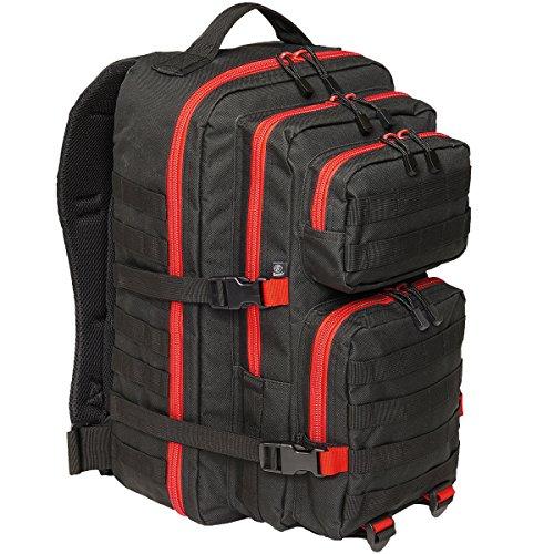 Brandit Rucksack US Cooper large 2-color, Farbe:black/red;Größe:one size