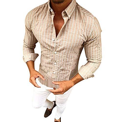 Camicia uomo slim fit maniche lunghe eleganti confortevole autunno e inverno confortevole camicia miscela camicie risvolto casual classiche coreana non-stiro cotone piccolo a righe stampa s-2xl