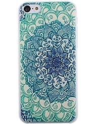 Malloom®Para iPhone5C tótems verdes vendimia patrón floral Fundas y carcasas (estuche duro)