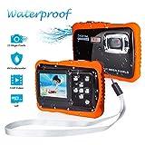 FLAGPOWER Kinder Kamera Wasserdicht mit 16GB MicroSD-Speicherkarte, Unterwasser Kamera Camcorder für Kinder ab 3 Jahre, Digitalkamera mit 4-Fach Digitalzoom/ 12MP HD Fotos/ 720P HD Videofunktion/ 2  TFT LCD Bildschirm (Wasserdicht bis 3 Meter)