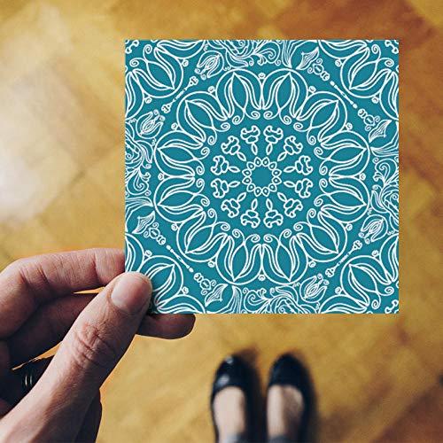 Bad Wohnzimmer Boden Wandaufkleber 3D Fliesen Blau Muster Dekoration Küche Bad Einfache Persönlichkeit Lxa 12X12 cm -