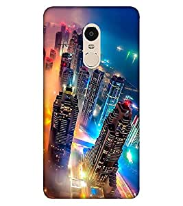 Takkloo awesome view of city ( Boats in the sea, lightened buildings, colourful lighting) Printed Designer Back Case Cover for Xiaomi Redmi Note 4 (2017 Edition)