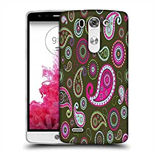 Snoogg Green Pattern Designer Protective Phone Back Case Cover For LG G3 BEAT
