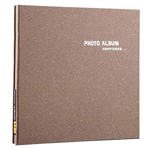 FOOHAO- Albums photo avec des pages collantes, couverture en bois, 20 pages (40 surface), Vintage bricolage Creative Couple Album (Couleur : White card)