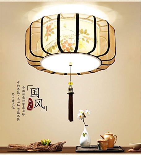 BRIGHTLLT Neue chinesische Decke lampen Licht antike Schlafzimmer Wohnzimmer Beleuchtung China wind Classic handbemalte Teehaus Restaurant, 500 * h 200 mm Lampen (200-decken-beleuchtung)
