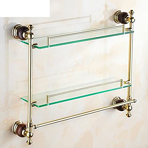 European-style double vanity/Bathroom Glass Shelf/Towel rack-B