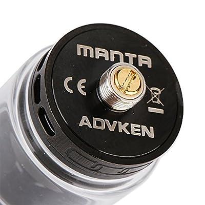 Advken Manta 3ml/4,5ml RTA Verdampfer 810 PEI Drip Tip 24mm Vape Nicotine Free Schwarz von Wanna