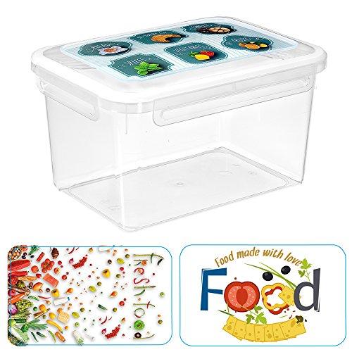 Great Plastic Tolles Kunststoff Alba Eckig Micro Food Container mit Bi-Material Gelenk Verziert IML, Sortiert, 12Stück -