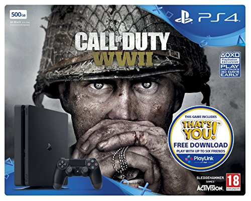 Sony PlayStation 4 500GB Call of Duty: WWII Bundle (Includes free download of Thats You)