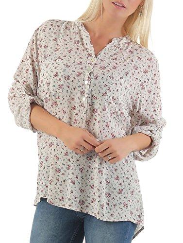 malito Bluse im Vintage-Look Tunika T-Shirt 6709 Damen One Size Beige