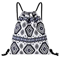 JUFANA Womens Bags printing Backpack Fitness Bag Women Sports Beach Bag with Zipper and Water Bottle Mesh Pockets (G)
