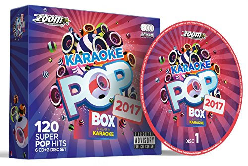 Price comparison product image Zoom Karaoke Pop Box 2017: A Year In Karaoke - Party Pack - 6 CD+G Box Set - 120 Songs