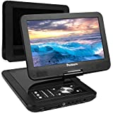 NAVISKAUTO 10.1 Inch HD Screen Portable DVD/CD Player USB/SD Card Reader With 5 Hour Built-In Rechargeable Battery