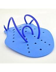 tfxwerws niños adultos palas de natación aletas entrenamiento de fuerza guantes azul M
