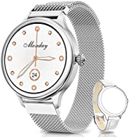 NAIXUES Smartwatch, Reloj Inteligente para Mujer, Reloj Deportivo Impermeable IP67 con Monitor de Sueño Pulsóm