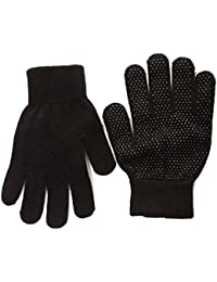 Adults Magic Stretch Gripper Gloves Available in Black or Camel (Black)