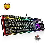 Teclado Mecánico Gaming ACGAM AG-109R Retroiluminado RGB 105 Teclas y Switches Brown, Anti-Ghosting Mechanical Keyboard con Disposición Española(Tiene ñ)