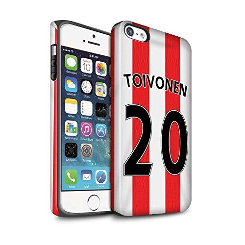 Offiziell Sunderland AFC Hülle / Matte Harten Stoßfest Case für Apple iPhone 5/5S / Pack 24pcs Muster / SAFC Trikot Home 15/16 Kollektion Toivonen