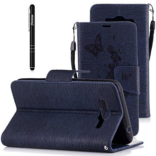 Slynmax Schutzhülle für Samsung Galaxy Grand Pre Plus/J2 Pre/G532 Hülle PU Leder Tasche Flip Case...