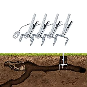 Gardigo vole claw trap set 4 pcs anti vole clamps garden outdoors - Volle trap ...