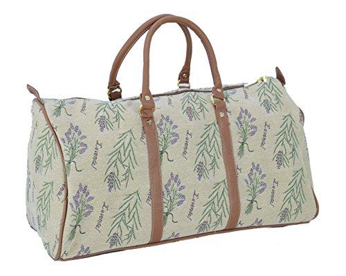 Reisetasche Lavendel Henkel Tapisserie Gobelin Royaltex Signare Handgepäck Reise Tasche Gepäck Fa. Bowatex