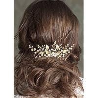 Amazon.it  Gioielli per capelli con foglie - Fermagli a pettine ... 35fc006d1f87