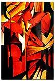 elOleo Franz Marc - Füchse 90x60 Gemälde auf Leinwand handgemalt 88992A