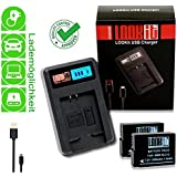 LOOKit® LCD Charger + 2x Batterie - BLC12 E - 1050mAh pour Panasonic Lumix FZ2000 G81 FZ300 G70 GX8
