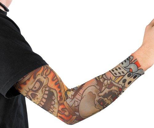 infactory Tatoo Armling: Tattoo-Armling Skull (Tattoo Armstulpen) -