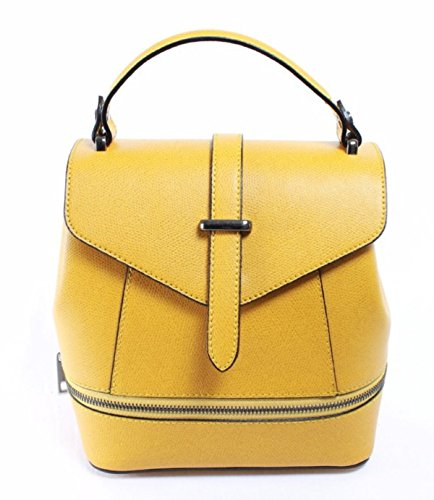 SUPERFLYBAGS Borsa Donna a mano / Zaino vera pelle modello Ligia Made In Italy giallo