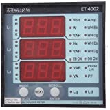 ELTRAC- Dual Source Multi Function Meter, 9.6 cm x 9.6 cm x 5.2 cm, Class 1.0