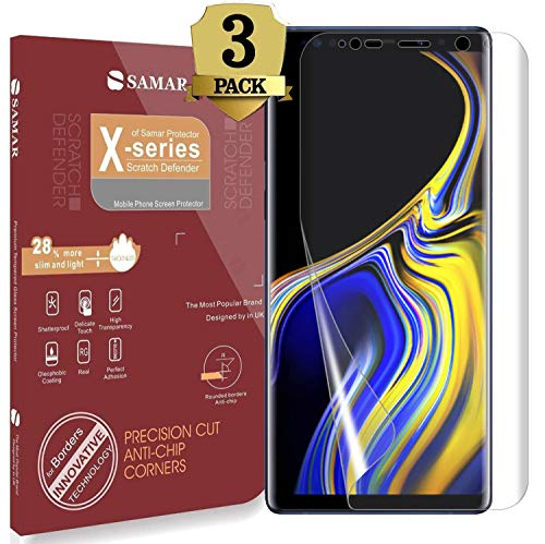 SAMAR Samsung Galaxy Note 9 Screen Protector, Premium Quality [Case Friendly] Samsung Galaxy Note 9 {Full Size} Crystal Clear Screen Protectors (3 in Pack) Extremely Invisible and Touch Sensitive