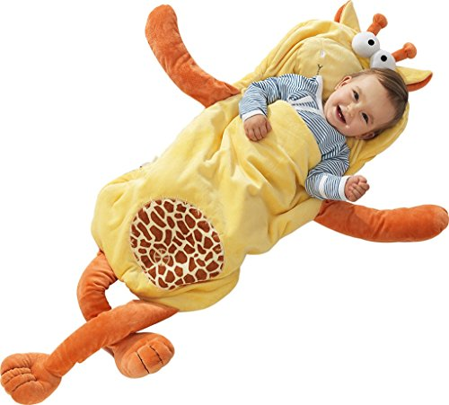 i-baby Sacchi Nanna Infantil Sacco a Pelo di Sonno Pigiami Autunno Invernale Bambino Neonato Ragazzi Ragazze Per 3 6 12 18 Mesi 2 3 Anni 3D Cartone Animato Giraffa Gialla