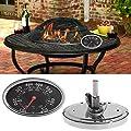 FXCO Ersatz-Thermometer, Grill 800, oval, für Rauchgrill