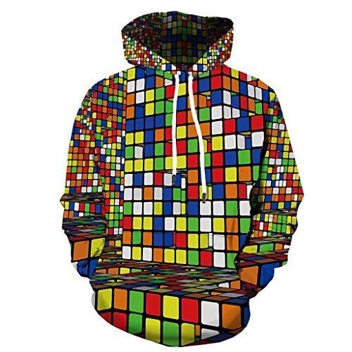 Merino-zip-front-strickjacke (Unisex 3D Druck Grafik Hoodie Kapuzenpullover Langarm Sweatshirt Kapuzenjacke mit Taschen Elecenty Lustige Jacke Mantel Hoodies Bluse Tops Outwear)