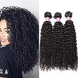 Tissage Bresilien en Lot de 3 Bresiliens 50g/pc(Non 100g) Virgin Hair Deep Curly 8 Pouces(20.3cm) Court Cheveux Boucles Cheveux Bresiliens Vierges de Tissages Cheveux Humains
